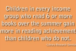 children who read BOOKS